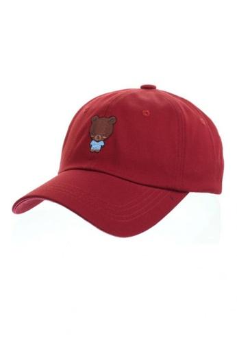 M-Wanted red M. Cozy Series Baseball Cap -  Bear MW173AC14HTHSG_1