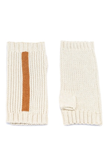 niko and ... white Knit Gloves B8F29ACE74BBEFGS_1