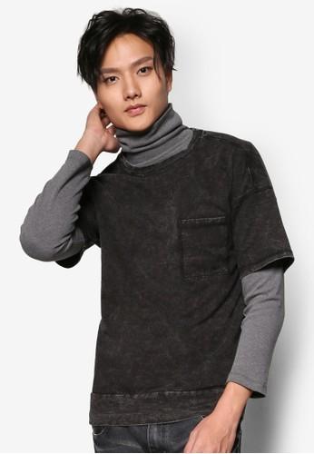 縫紋水洗寬esprit台灣門市鬆上衣, 服飾, 男性服飾