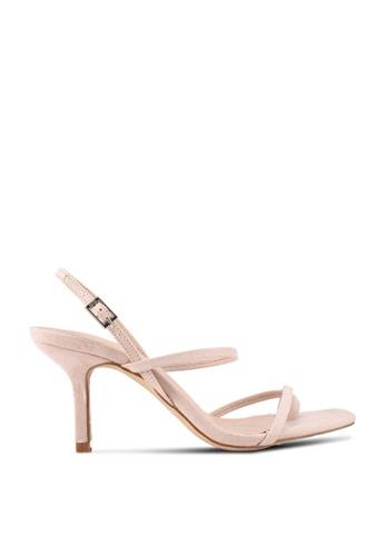 Nose beige Strappy High Heel Sandals 304C7SH9C3876FGS_1