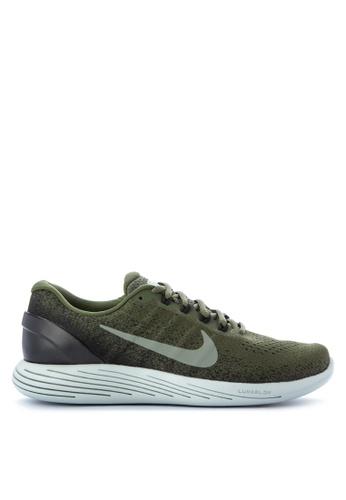 Nike black and green Men's LunarGlide 9 Running Shoes NI126SH0KPUTPH_1