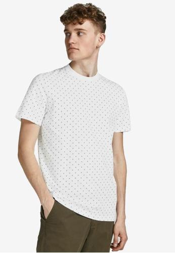JACK & JONES white All Over Printed T-Shirt 5C961AA1945471GS_1