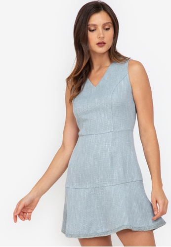 ZALORA WORK multi Sleeveless Tweed Dress B7B0CAA2F1C44FGS_1