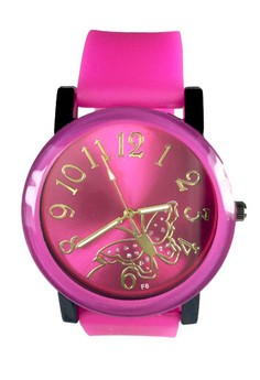 Butterfly Silicone Strap Watch Big