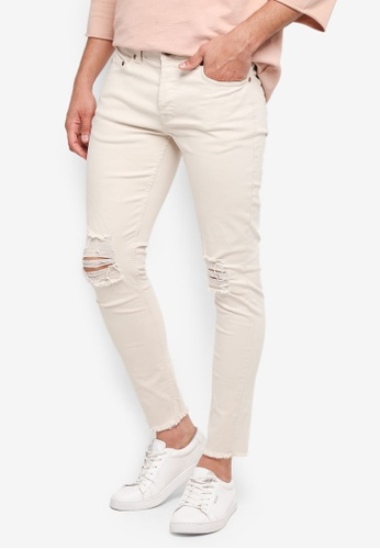 Only & Sons beige Warp Jeans 34BABAA0E7CFCFGS_1