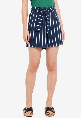 ESPRIT navy Woven Regular Shorts BE869AA2377ACDGS_1