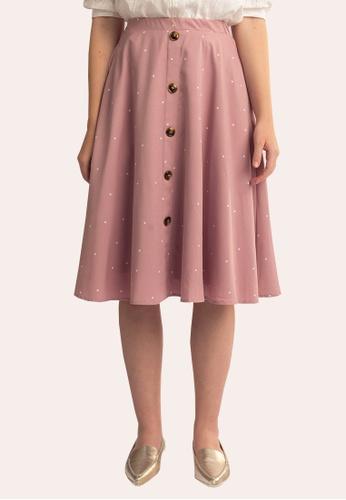 L'zzie pink LZZIE KIRSTEN SKIRT - PINK 23AE3AAB529E00GS_1