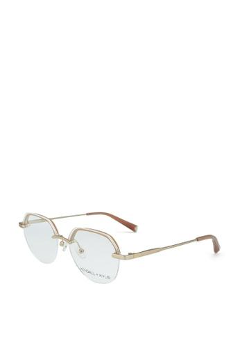 Kendall + Kylie gold Valerie Glasses B7E9FGLF570F11GS_1