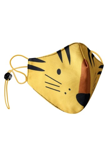 Rokarola yellow Adjustable Elastic Earloop Mask Kids - Tiger (Water Repellent - Anti-Bacteria) 86C4FES0D85D82GS_1
