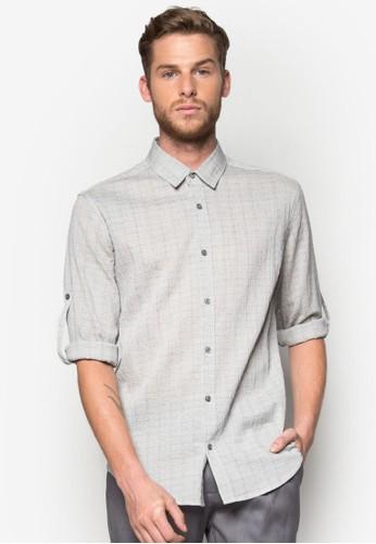 暗zalora時尚購物網評價紋長袖襯衫, 服飾, 印花襯衫