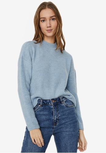 Vero Moda blue Olina Highneck Pullover 31660AA74203E5GS_1
