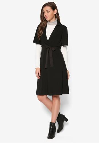 Vesprit outlet 台灣 領繫帶及膝連身裙, 服飾, 洋裝