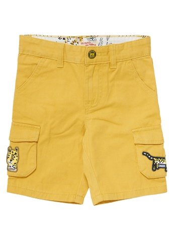 Du Pareil Au Même (DPAM) yellow Light Yellow Bermuda Shorts B6F7AKA26B5882GS_1