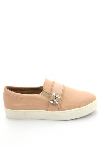 MINKA beige ESTEE Jewelled Slip On MI006SH87JXCID_1