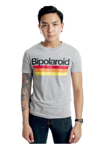 Praise grey Bipolaroid Graphic Tee PR067AA00KIXSG_1