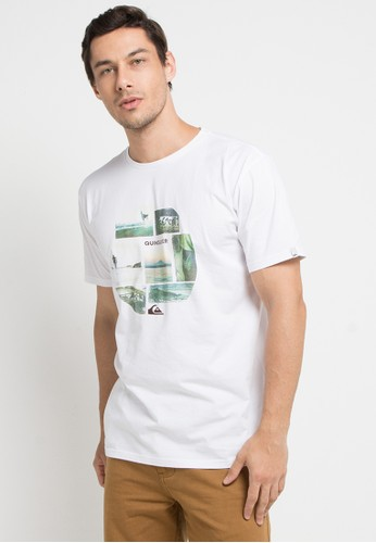 Quiksilver white Photo Mix T-Shirt 72D1DAA100A09CGS_1