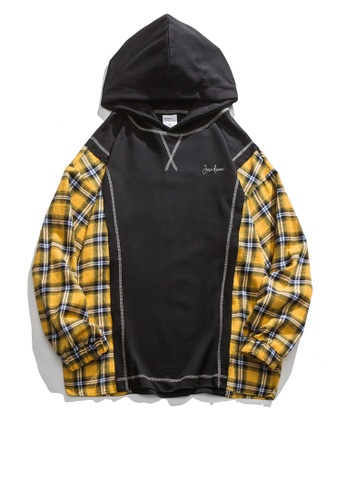Twenty Eight Shoes Loose Plaid Patchwork Hoodie HH0124 371F0AA21D765EGS_1