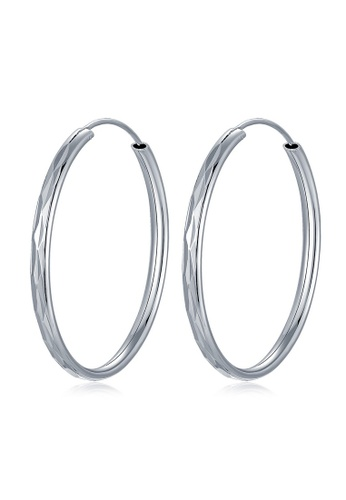 MBLife silver 925 Sterling Silver Faceted Endless Hoop Earrings E4EB8ACAFBB9FDGS_1