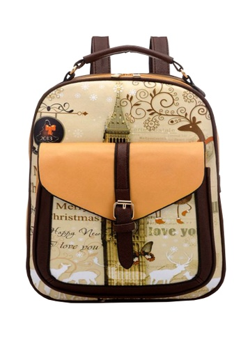 TCWK brown Ladies Backpack TC258AC74GCZMY_1