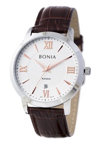 BONIA silver and brown Bonia Rosso - BR166-1313 - Jam Tangan Pria - Silver Brown 19E30AC0D98CBAGS_1