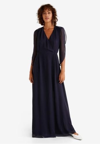 MANGO purple Side Slit Long Dress D18CAAA98D3099GS_1