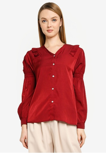 BYN red Muslimah Long Sleeve Top 40992AA5D35F0DGS_1