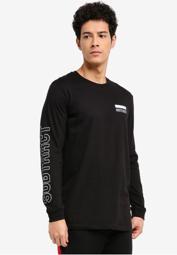 Factorie black Long Sleeve Amped Tall Tee 0FF6EAA12F8561GS_1