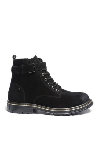 Twenty Eight Shoes black VANSA Stylish Leather Mid Boots VSM-B3320 29105SH8D37C73GS_1