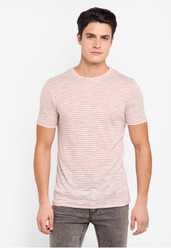 Topman pink Pink Linen Stripe TO413AA0T1NTMY_1