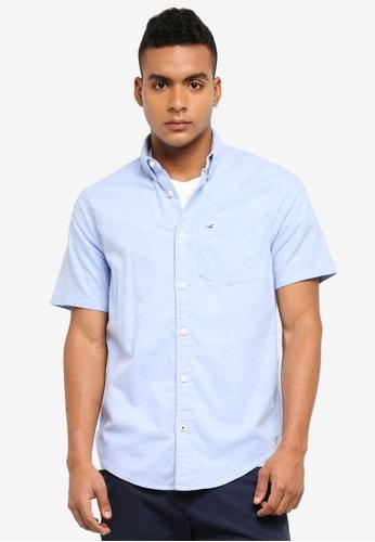 Hollister blue Core Solid Oxford Shirt 6F5ACAA6E6248CGS_1
