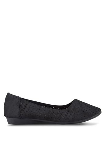 Louis Cuppers black Perforated Flats LO977SH00REHMY_1