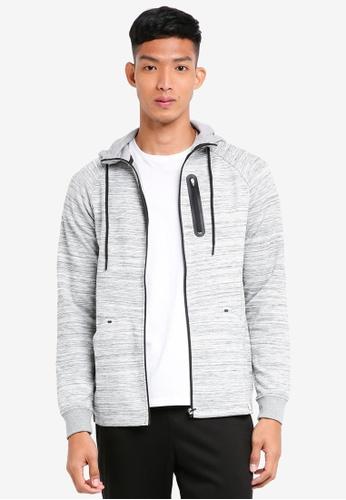 Only & Sons grey New Vinn Zip Sweatshirt 29A34AA1179814GS_1