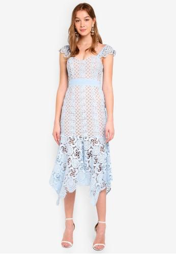 JARLO LONDON blue Renee Dress CDB73AA4CBE49FGS_1
