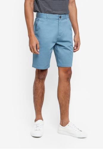 Burton Menswear London 藍色 素色休閒短褲 B80A0AAC0FD62DGS_1