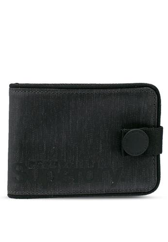 SUPERDRY black Tarp One Popper Wallet 7A39BAC8F1AA98GS_1