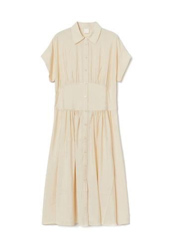 H&M beige Shirt Dress 6755FAA5E26851GS_1