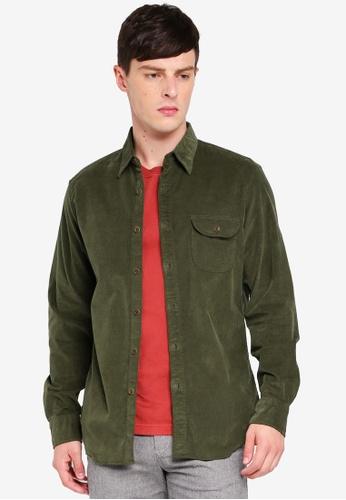 J.Crew 綠色 Stretch Corduroy Shirt C6A46AA68101ACGS_1