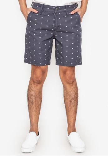 Wrangler grey Crave Low Rise Regular Slim Chinos Shorts B0DD2AA1D58B77GS_1