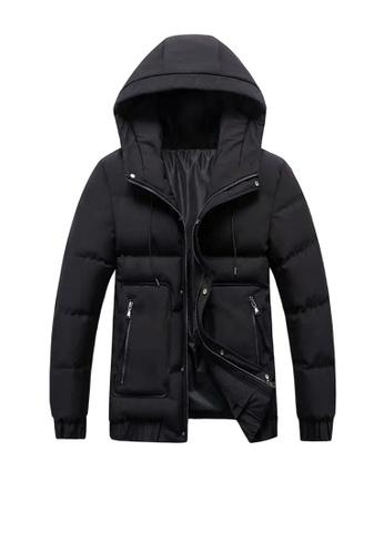 Twenty Eight Shoes black VANSA  Fashion Thick Warm Cotton Coat VCM-C006 F92B9AAA57A28BGS_1