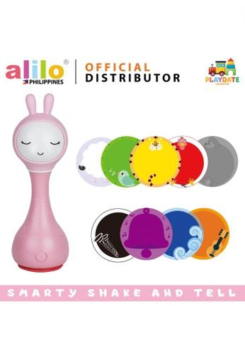 alilo pink Smarty Shake and Tell Rattle 0FA9CESA889E01GS_1