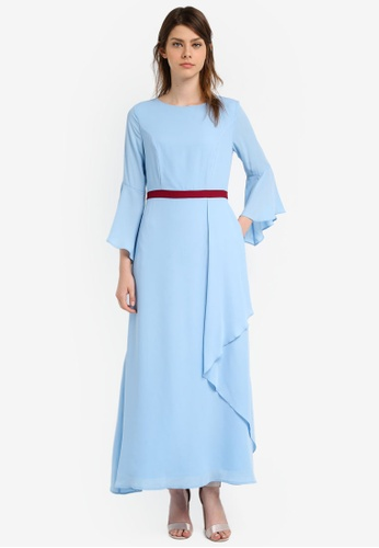 Zalia blue Contrast Waistband Maxi Dress 924AEAA32B4CE3GS_1