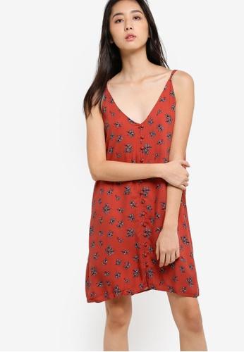 Supre orange Georgie Button Beach Dress SU225AA65ZCOMY_1