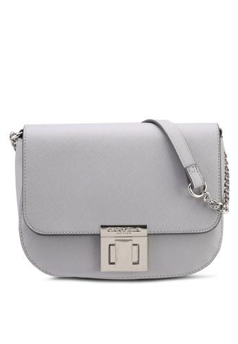 Carvela KG grey Sara Clean Saddle Bag 3EF38AC778E133GS_1
