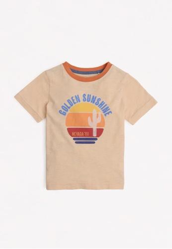 Gingersnaps beige Boys Sunset T-Shirt D7FFBKA9C8798CGS_1