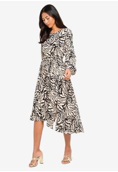 de3b4fbfd85 30% OFF Miss Selfridge Nude Xebra Print Midi Dress S$ 106.00 NOW S$ 73.90  Available in several sizes