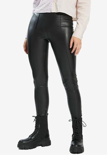 PIMKIE black Faux Leather Skinny Pants 13DD6AAB50CEAEGS_1