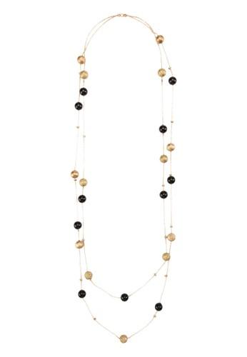 金色黑色串珠層次項鍊, 飾品esprit 衣服配件, 項鍊