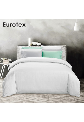 Eurotex Eurotex Home,900TC 100% Cotton Sateen, Fitted Sheet set, Soho White 86C3CHLF33AF77GS_1