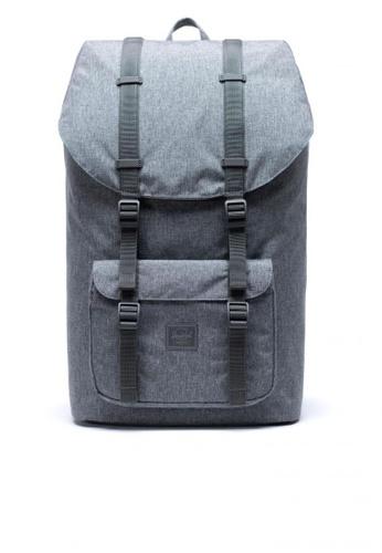 Herschel grey Backpack Little America Light Raven Crosshatch 1B8FFACD64BA85GS_1