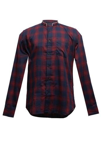 Men's Top red GARETH-MAROON Shirt 6262AAAA4015F6GS_1